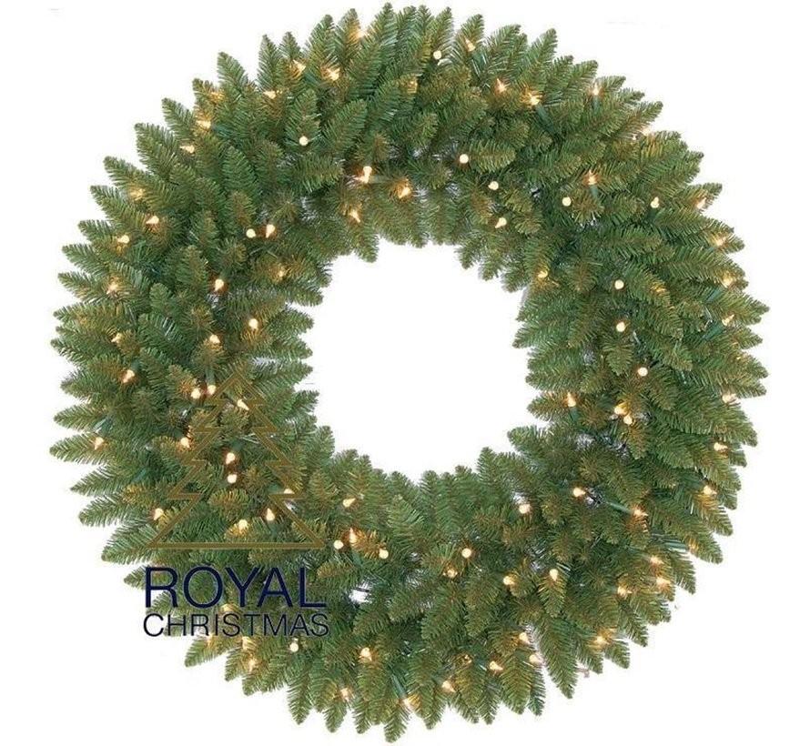 Kerstkrans Washington 90 cm met Warm White LED   Royal Christmas®