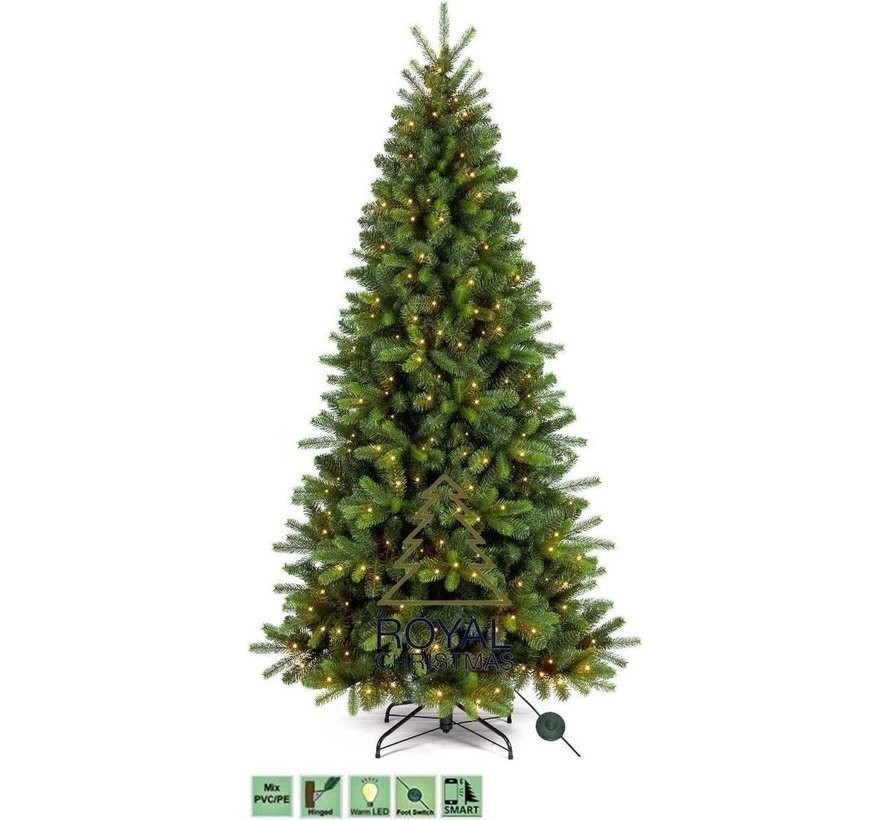 Kunstkerstboom Alaska Slank 210 cm met LED + Smart Adapter | Royal Christmas®