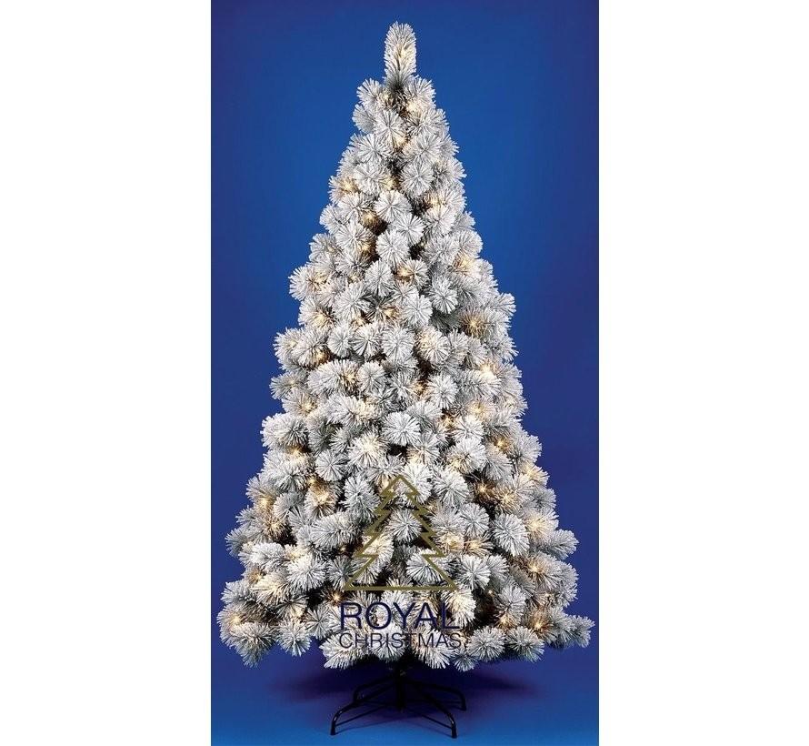 Kunstkerstboom Chicago - met sneeuw - 120 cm met LED + Smart Adapter | Royal Christmas®