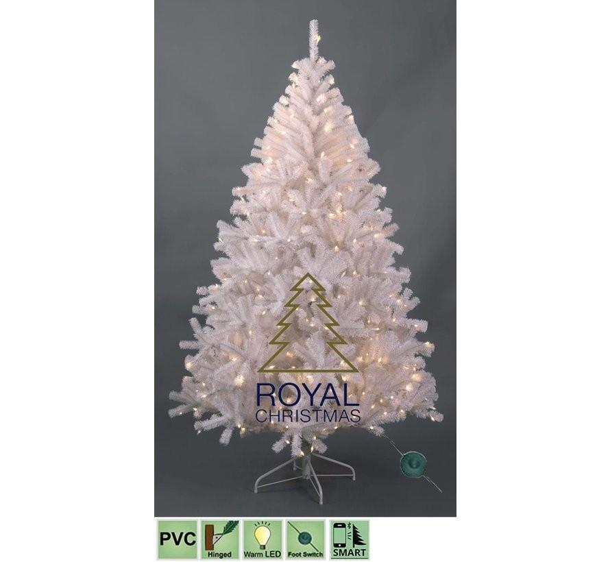 Kunstkerstboom Maine White 210 cm met Warm White LED | Royal Christmas®