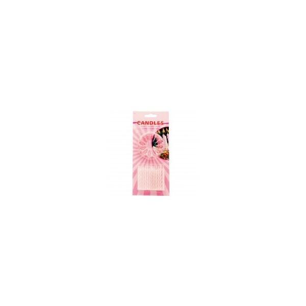 roze kaars met houder