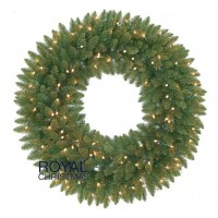 Kerstkrans Washington 90 cm met Warm White LED | Royal Christmas®