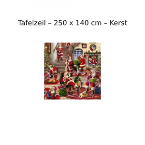Tafelzeil - 250 x 140 cm - Kerst