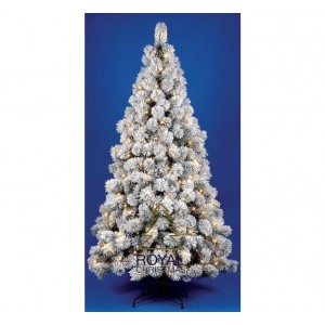 Kunstkerstboom Chicago - met sneeuw - 240 cm met LED + Smart Adapter | Royal Christmas®