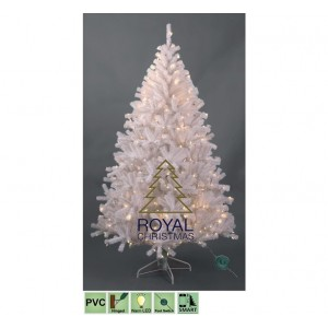 Kunstkerstboom Maine White 210 cm met Warm White LED | Royal Christmas®